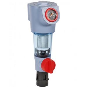 Комбинированный фильтр тонкой механической очистки FK74CS/FKN74CS Honeywell (с обратной промывкой и клапаном понижения давления)